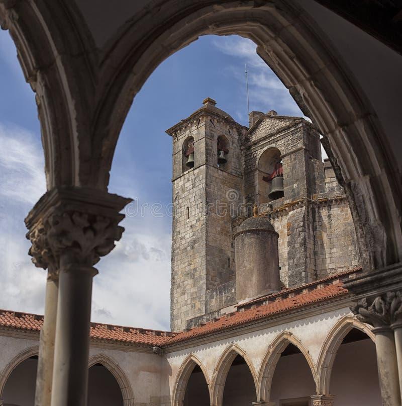 Tomar slott av riddarna Templar, Portugal arkivfoton