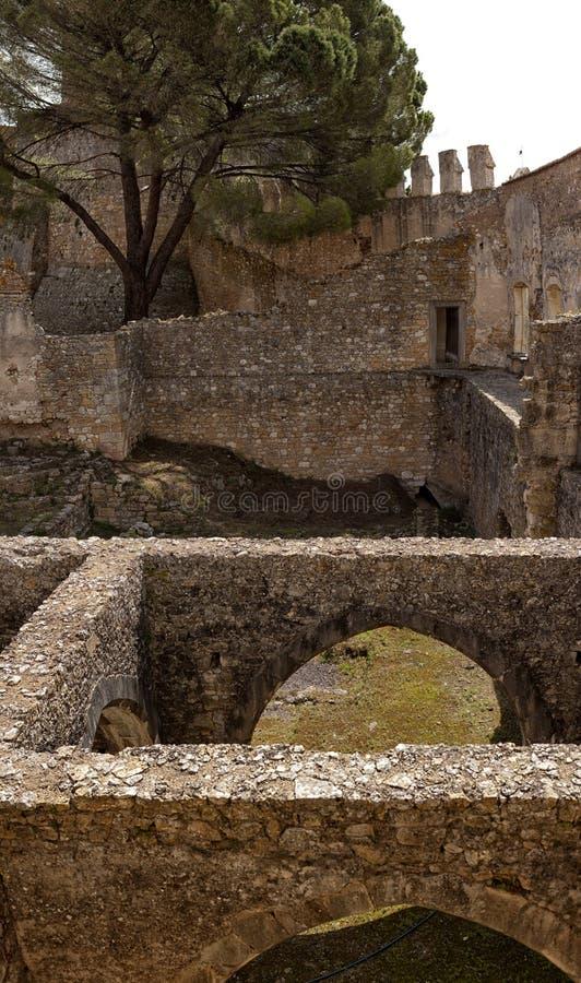 Tomar slott av riddarna Templar, Portugal royaltyfri bild