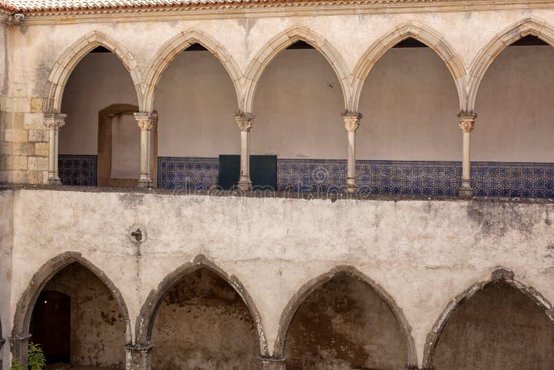 Tomar slott av riddarna Templar, Portugal arkivfoto