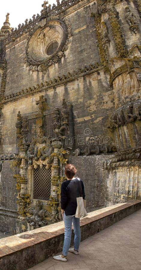 Tomar slott av riddarna Templar, Portugal royaltyfria foton