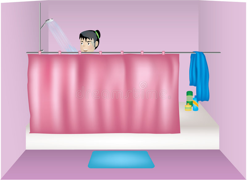 Download Tomar una ducha stock de ilustración. Ilustración de carácter - 1021689