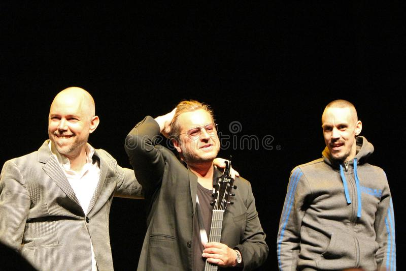 Tomas安德森Wij,毛罗Scocco和Kleerup -瑞典歌曲作者和音乐家 免版税库存照片