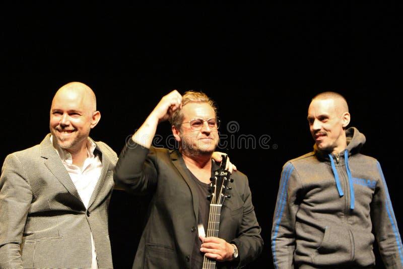 Tomas Andersson Wij, Mauro Scocco y Kleerup - compositores y músicos suecos imagen de archivo