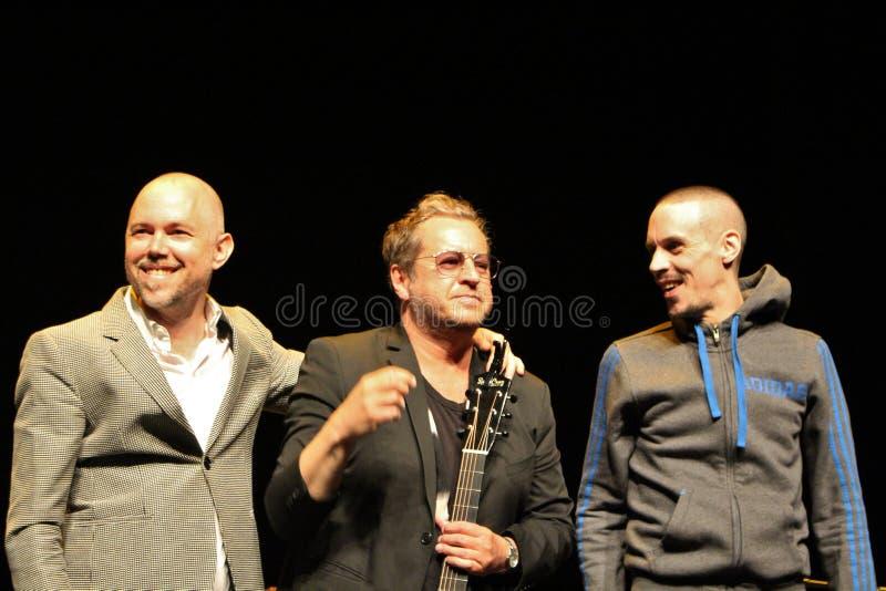 Tomas Andersson Wij, Mauro Scocco y Kleerup - compositores y músicos suecos fotos de archivo