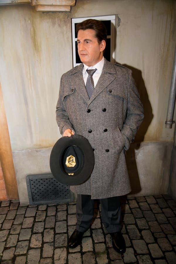 Tomas Bata no museu de Grevin das figuras de cera em Praga fotos de stock