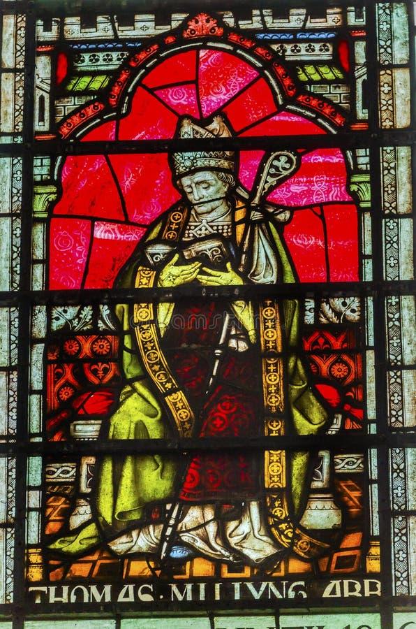 Tomasowski Becket witrażu opactwo abbey Londyn Anglia obrazy stock