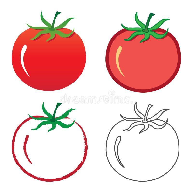 tomat royaltyfri illustrationer
