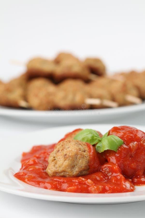 tomat för meatballssteksås arkivbilder