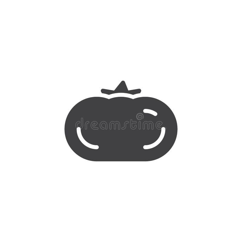 Tomat gr?nsakvektorsymbol vektor illustrationer