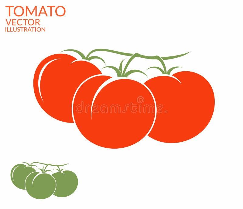 Tomat kli stock illustrationer