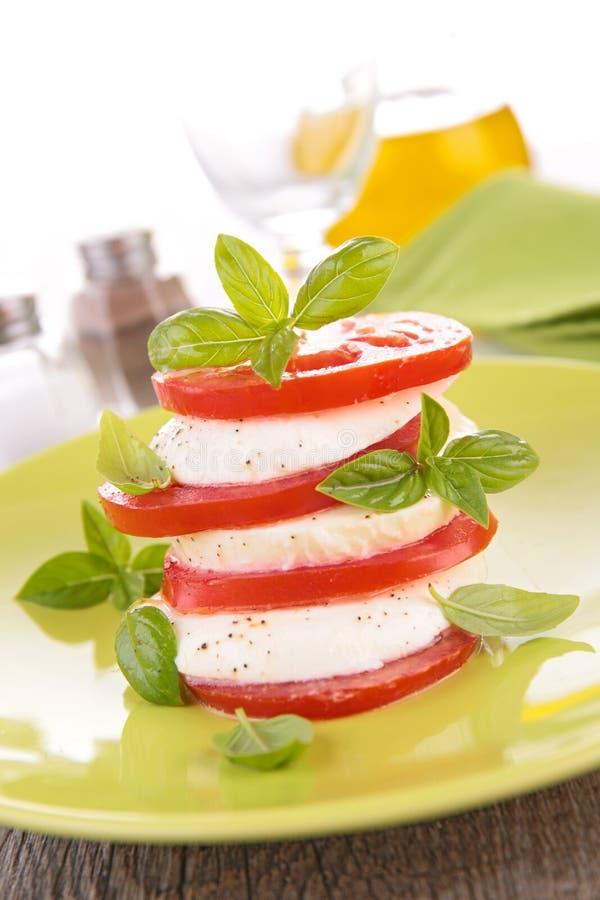 Tomat och Mozzarella royaltyfri fotografi