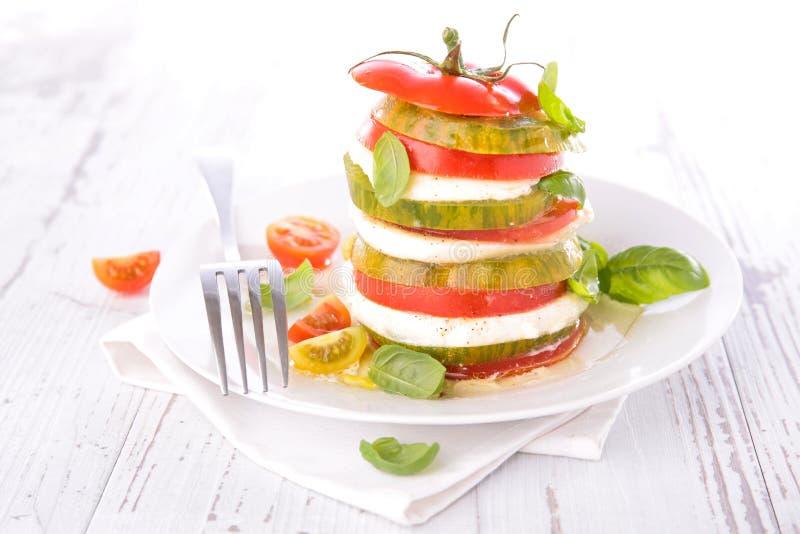 Tomat och Mozzarella arkivbild
