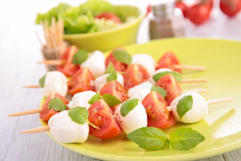 Tomat och Mozzarella arkivfoto
