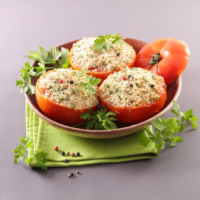 Tomate bourrée Baked photo libre de droits