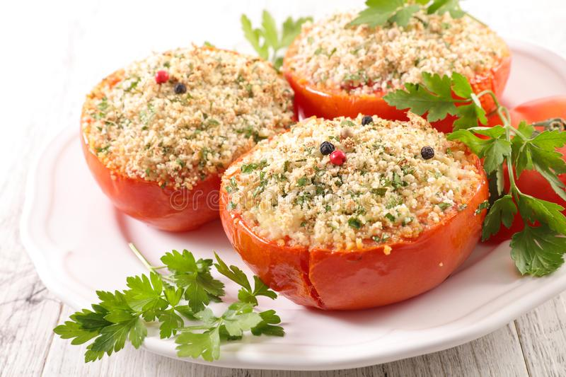 Tomate bourrée Baked images stock