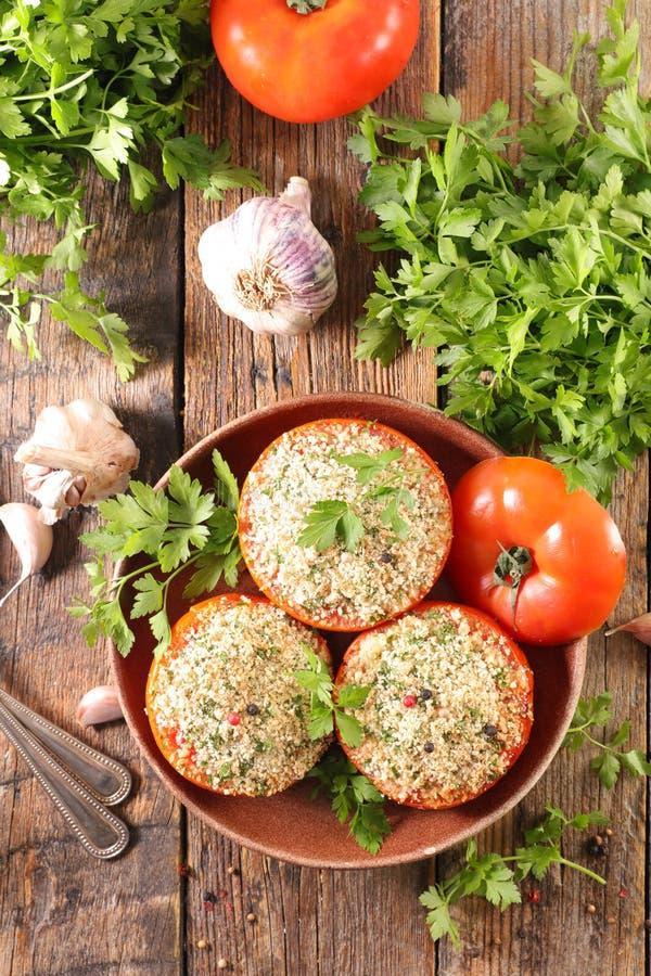 Tomate bourrée Baked image libre de droits