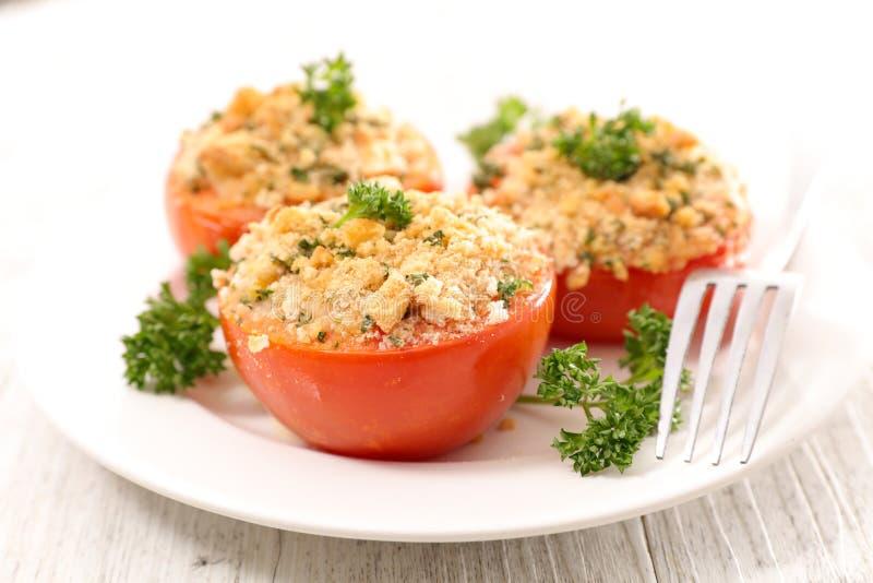 Tomate cuite au four image libre de droits