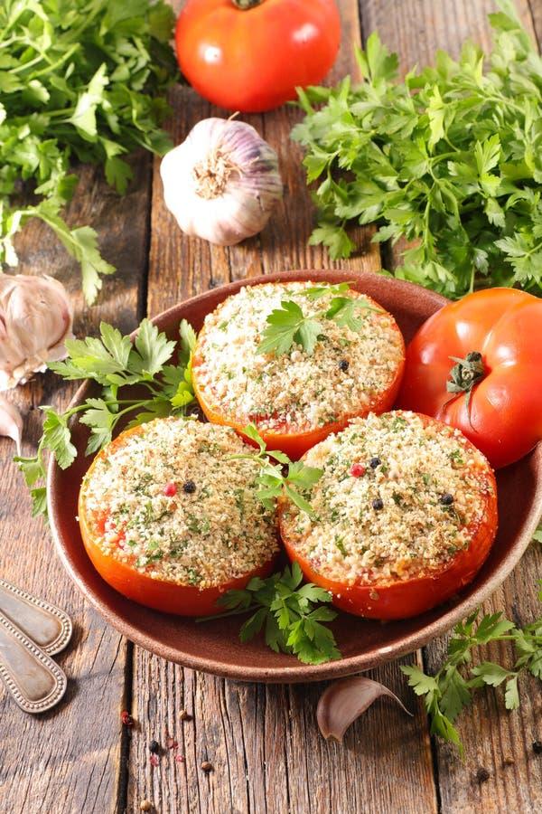 Tomate cuite au four images stock