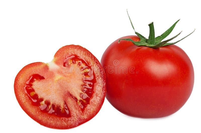 Tomate d'isolement sur le blanc photographie stock