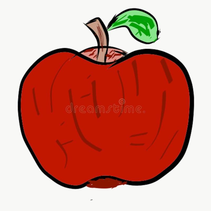 Tomate de aspecto extraño que es el rojo del color y tiene una imagen extraña ilustración del vector