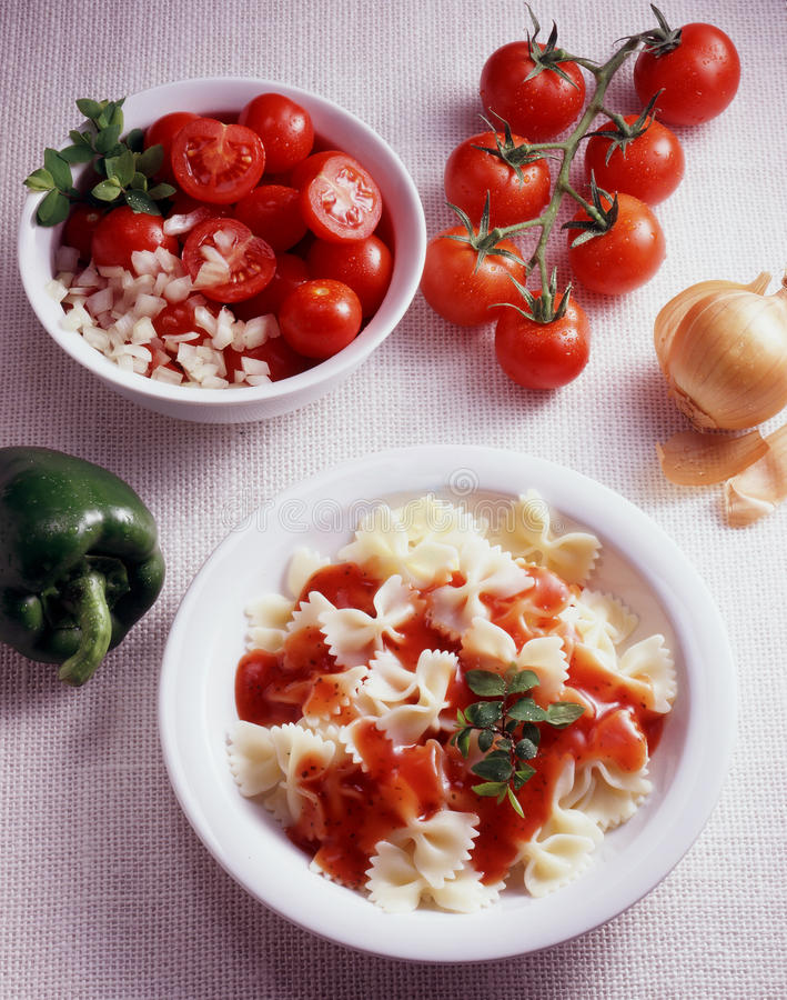 Tomate de Farfalle photographie stock