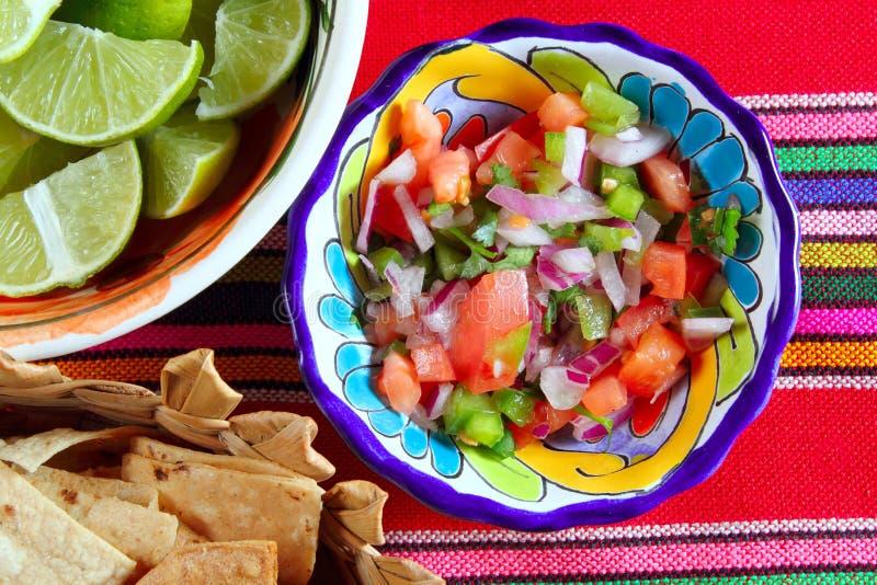 Tomate de Pico de Gallo e molho mexicano do pimentão foto de stock