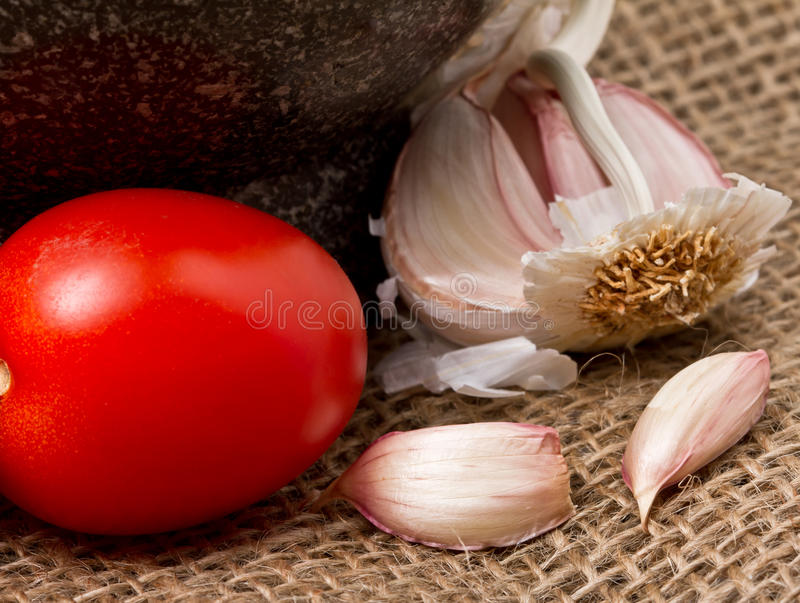 Tomate des Knoblauch-N stockfotografie