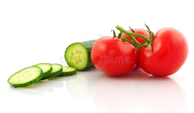 Tomate e pepino fotos de stock