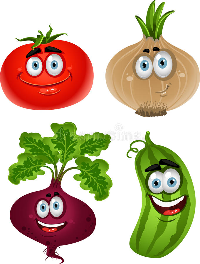 Download Tomate Engraçado Dos Desenhos Animados, Beterraba, Pepino, Cebola Ilustração Stock - Ilustração de divertimento, dedo: 21944540
