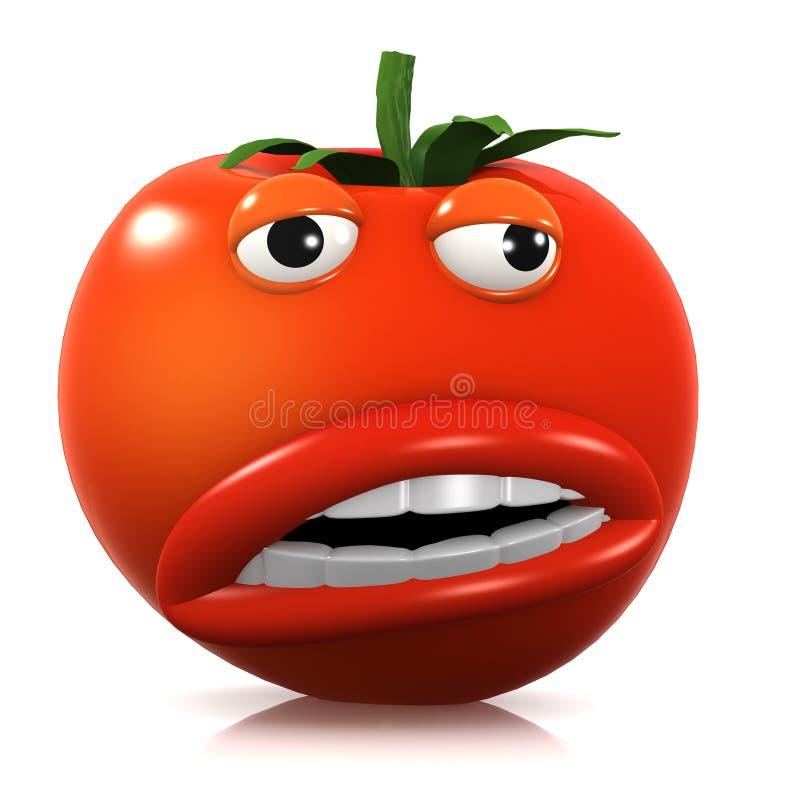 tomate extraño 3d stock de ilustración