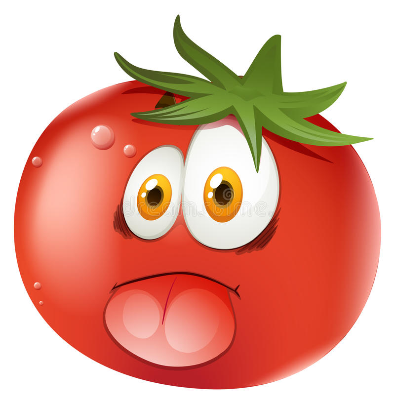 Tomate fresco con la cara libre illustration
