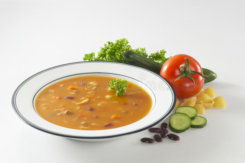 Tomate-Mischungs-Suppe lizenzfreies stockbild