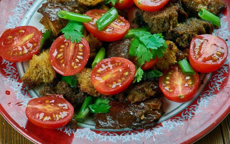 Tomate Panzanella imagem de stock