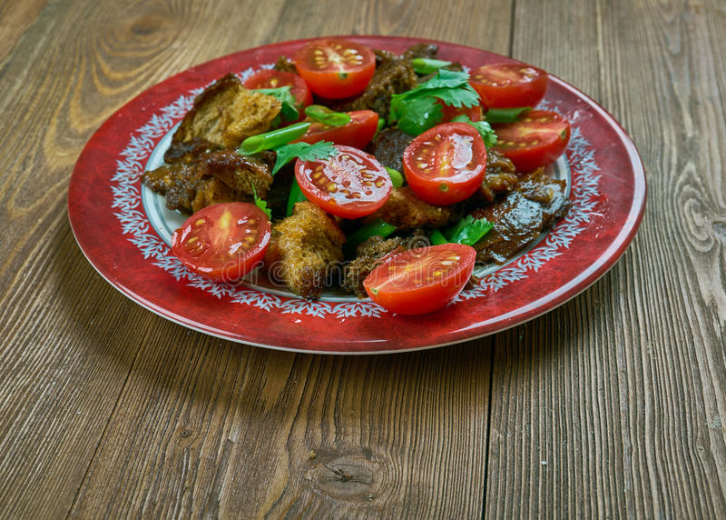 Tomate Panzanella lizenzfreie stockfotos