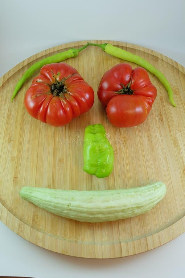 Tomate, pimenta e pepino naturais imagem de stock