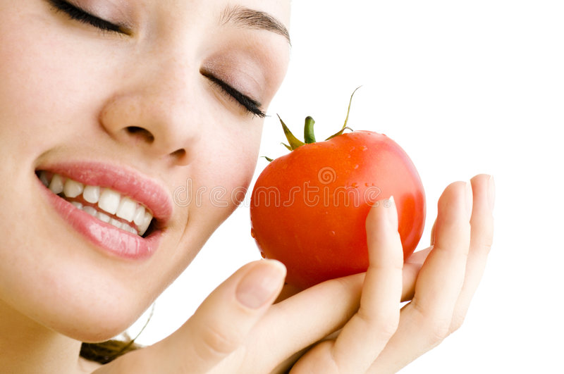 Tomate rouge photo stock