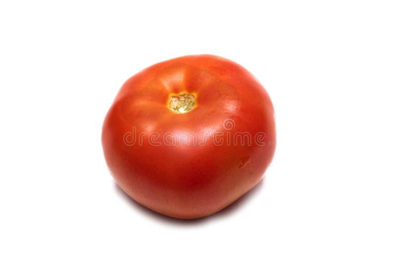 Tomate rouge avec des baisses de l'eau étroitement, d'isolement photo libre de droits