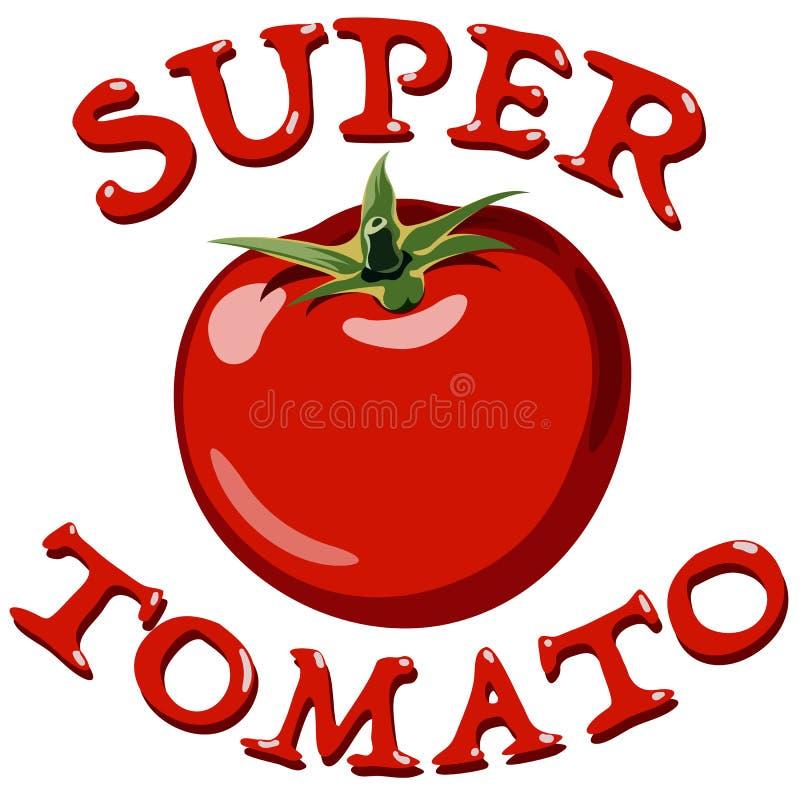 Tomate rouge Vecteur illustration stock