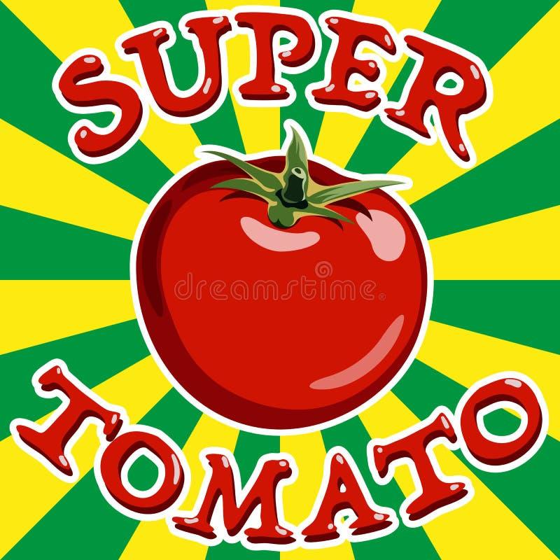 Tomate rouge Vecteur illustration libre de droits