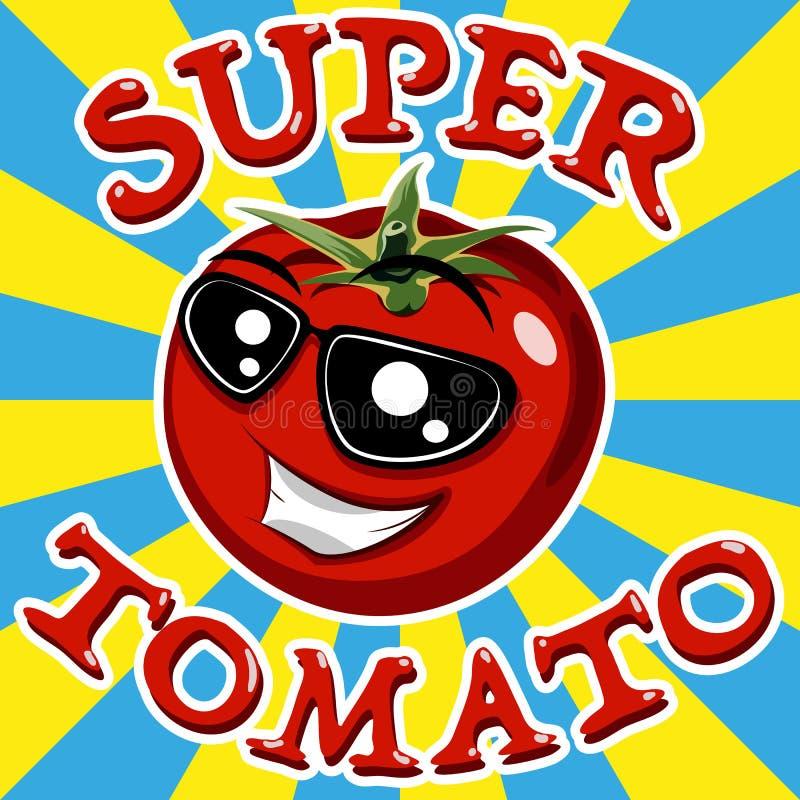 Tomate rouge Vecteur illustration de vecteur