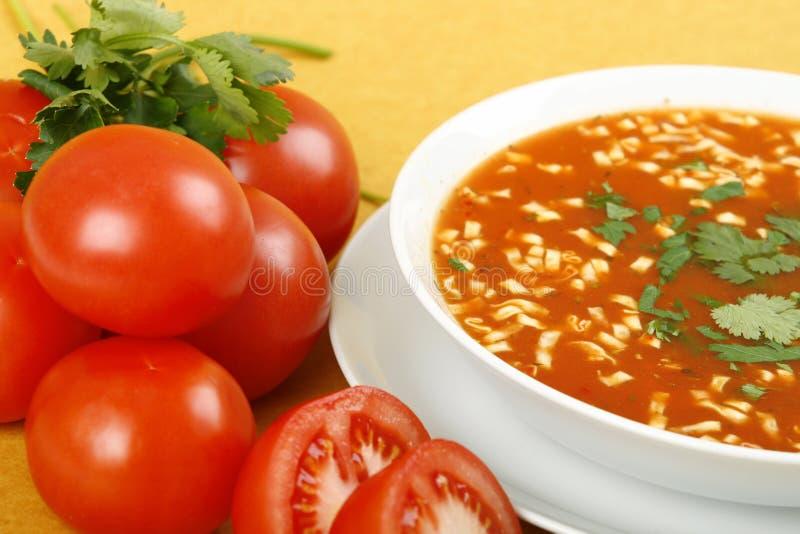 Tomate-Suppe stockfotos