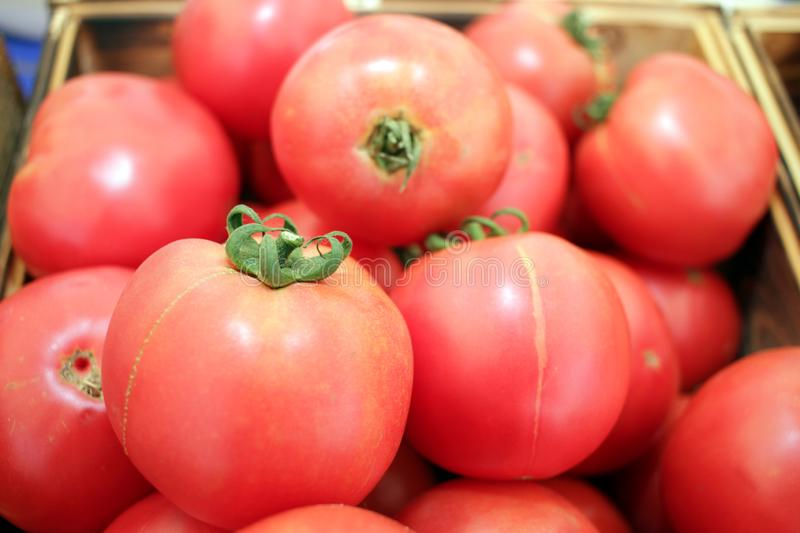 Tomate Tomates Fruits organiques Salade images stock