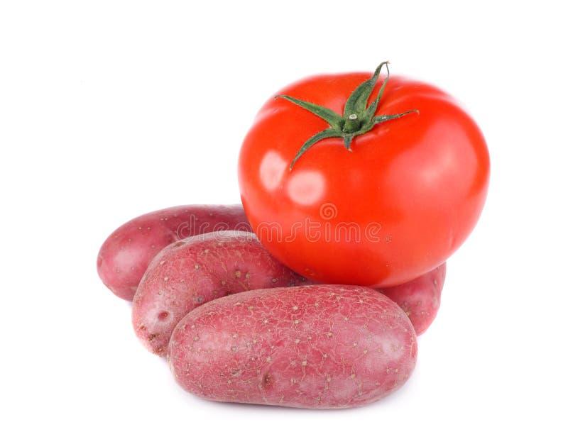 Tomate und Kartoffeln stockbilder