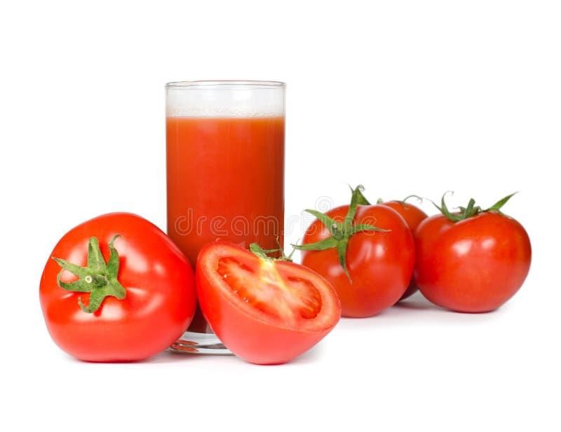 Tomate vermelho isolado no branco foto de stock