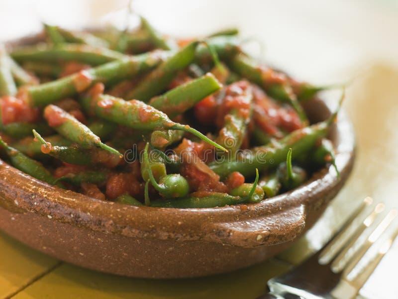 tomate verte de Salsa d'haricots images stock