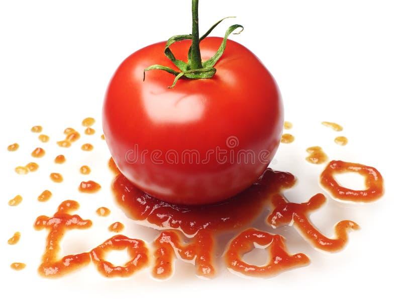 Tomate y salsa de tomate fotos de archivo libres de regalías