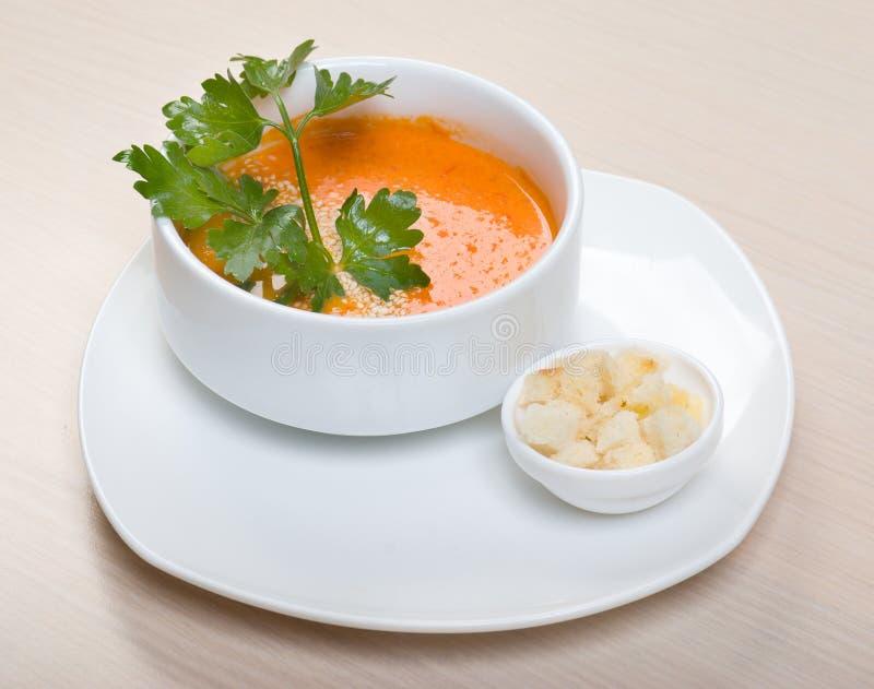 Tomategemüsesahnesuppe lizenzfreies stockfoto