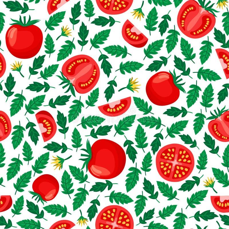 Tomaten naadloos patroon royalty-vrije illustratie