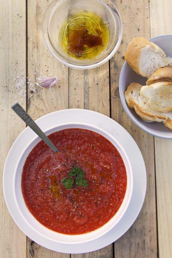 Tomaten-Suppe stockfotos