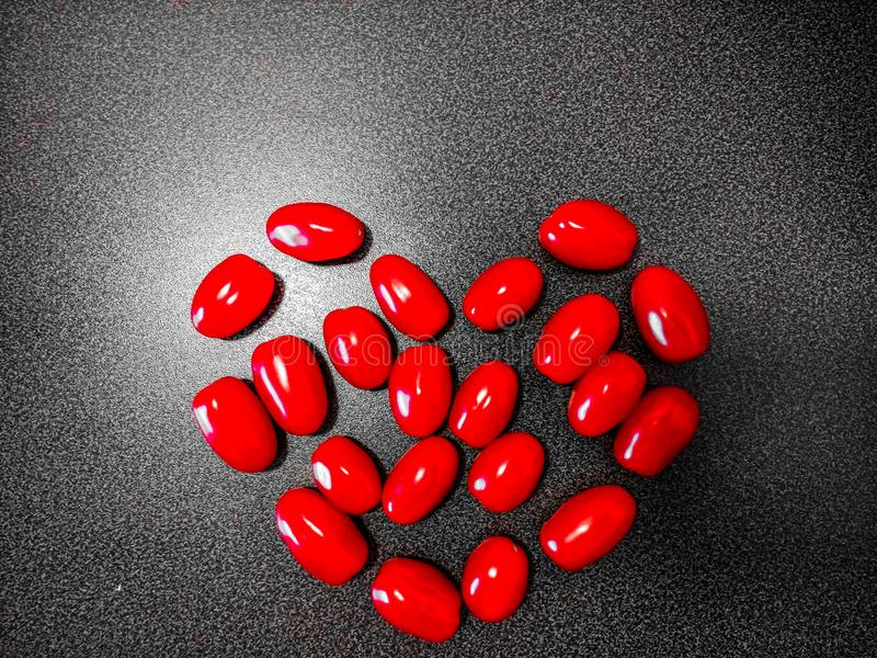 Tomatenherz stockfoto